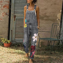 Rompers Womens Jumpsuit Stylish Harem Jeans Strap Overalls Women Vintage Girls Denim Bib Pants Streetwear Macacao Feminino O9(China)