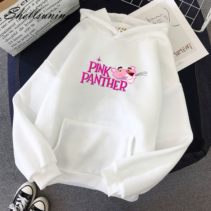Shellsuning  Printed Hoodies Women Korean Autumn Winter Fleece Hooded Pink White Soft Sweatshirts Harajuku Funny Kawaii Clothing