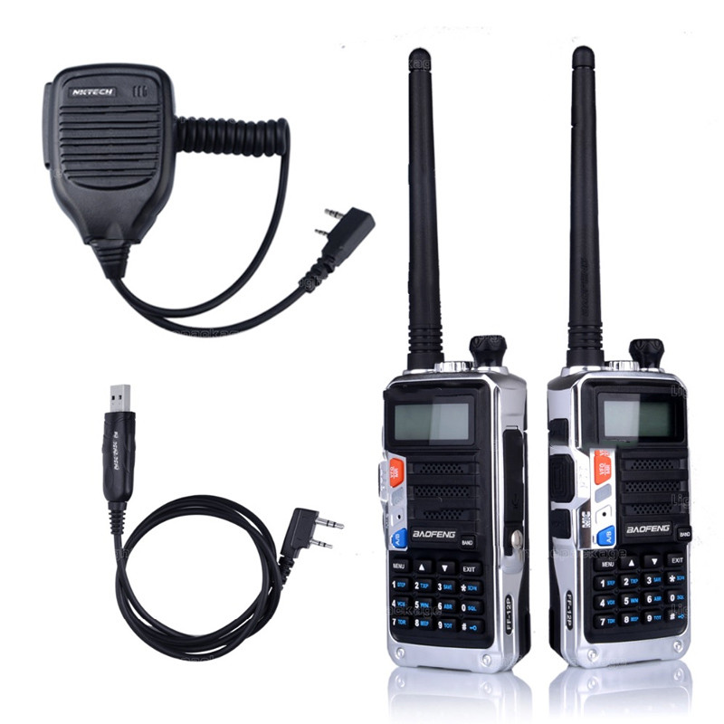 Walkie-Talkie Two Way Walkie Dual Band BF-UVB2PLUS Talkie VHF/UHF Portable Radio Walkie Talkie