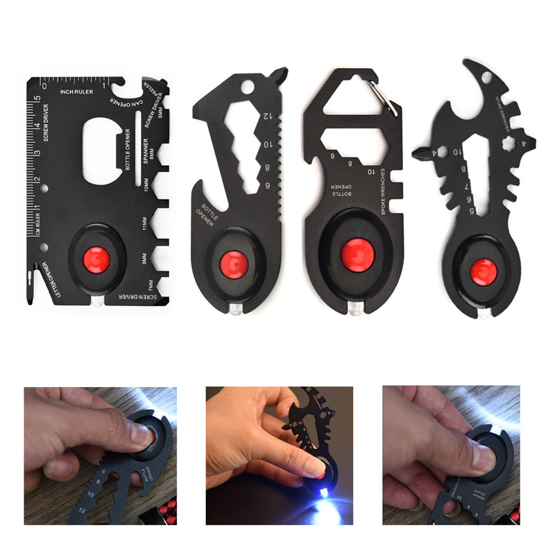 Outdoor Camping Military Multifunction Credit Card Rescue EDC Tool Pocket Stainless Steel Survival Gadget Opener Screwdriver