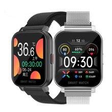 Para vivo x60 pro s9 y31 y51 y72 iqoo 7 y20g realme 8 pro realme 6 pro relógio inteligente temperatura do corpo freqüência cardíaca esporte smartwatch