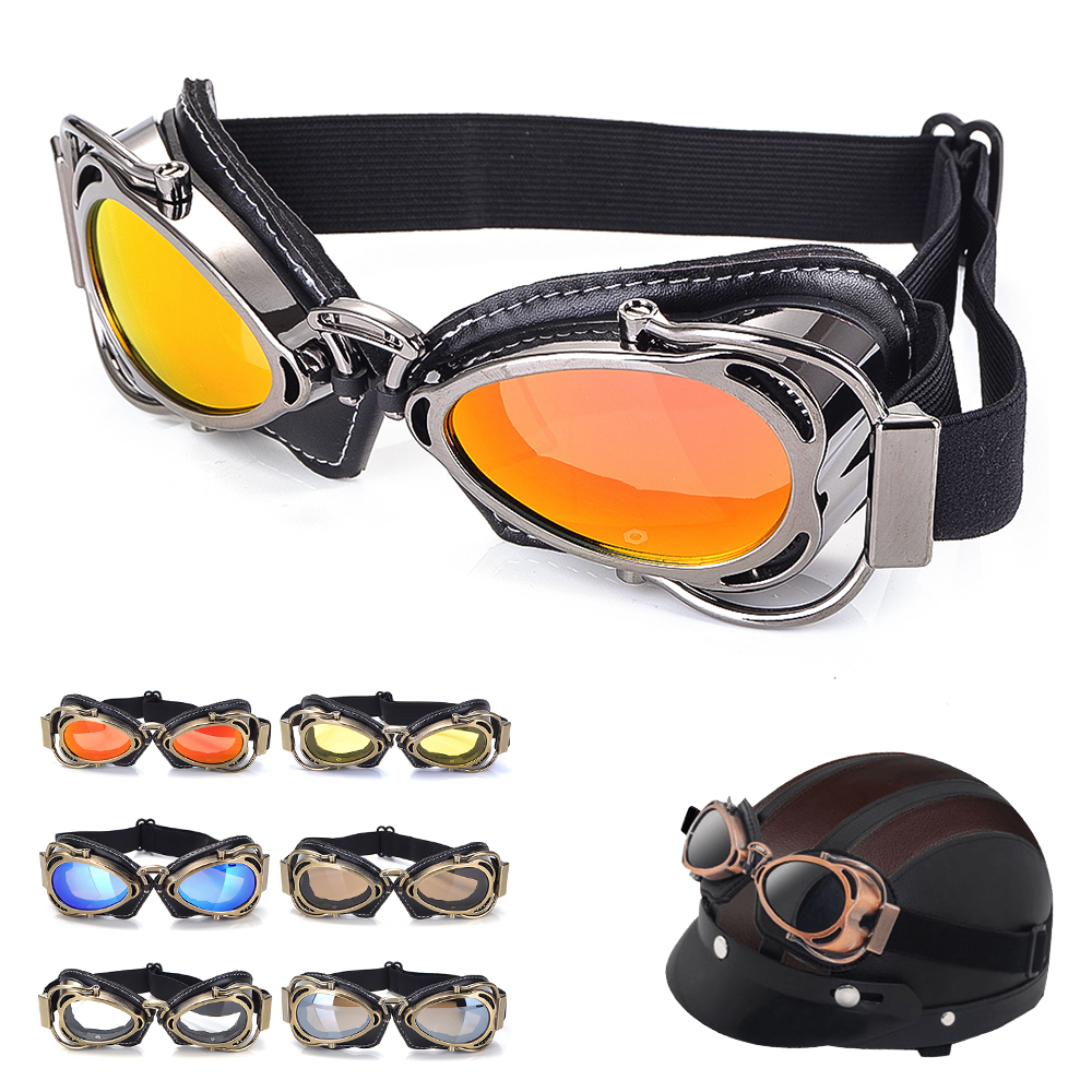 New Retro Motorcycle Glasses Helmet Goggles outdoor sport Off-road racing glasses Motocross Motorbike Scooter ATV Dirt Glasses