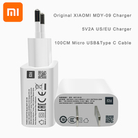 XIAOMI adattatore di alimentazione MDY-09-EK/EW EU US 80CM Micro USB / 1M tipo C cavo dati caricabatterie da parete supporto tutti i telefoni cellulari Micro USB