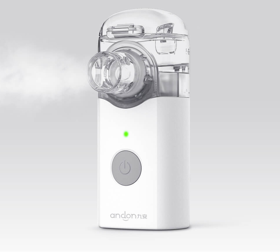 Xiaomi Andon Nebulizer Mini Portable Silent Atomizer USB Battery Handheld 0.2mlmin Rate Asthma Respirator Humidifier (2)