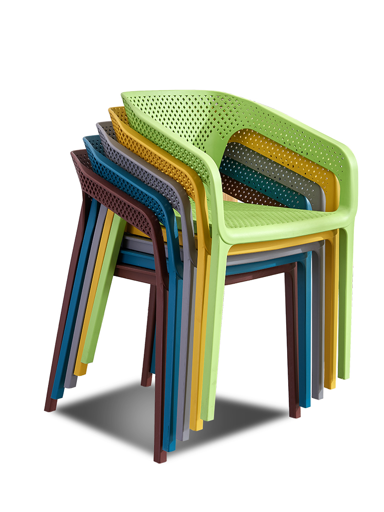 Silla de plástico nórdico con respaldo, silla de ocio de plástico para el hogar, engrosamiento al aire libre, pegamento para sillón de recubrimiento hueco de café Funda de alta calidad para sofá, mobiliario, sillón, moderno sofá para sala de estar, funda de sofá elástica, funda de sofá de algodón de 1/2/3/4 plazas