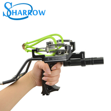 Professional Slingshot Catapult Full Set Fishing Slingshot Arrow Laser Slingshot Powerful Fishing Catapult Hunting Shooting shou fa aluminum alloy slingshot a small cup catapult and powerful poket slingshot used for shooting