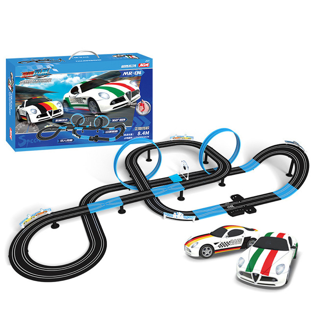 Sonic Storm Double Electric Remote Control Track Racing Children's Toys Parent-child Interactive Racing Track Toys Gift