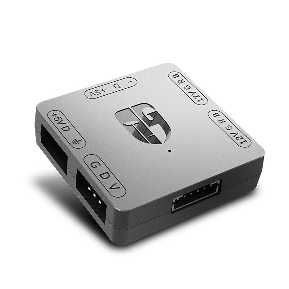 DEEPCOOL RGB Convertor 5V To 12V RGB Transfer Hub SATA Interface Magnet Installation For RGB 3PIN M/B ASUS Gigabyte And MSI