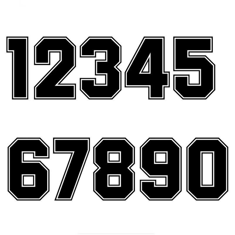 A1111 # номера 0123456789 шлем гоночный виниловые наклейки аксессуары для мотоциклов наклейка