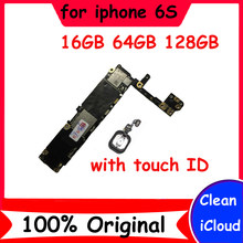16GB 64GB 128GB Clean icloud original motherboard for iphone 6S with / without touch ID mainboard with IOS System logic board(China)
