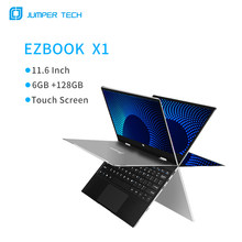 Jumper EZbook X1 Notebook 6GB 128GB 11.6 Inch 1920*1080 FHD IPS Touch Screen Intel Celeron Quad Core Laptop Win10 2.4G/5G WiFi