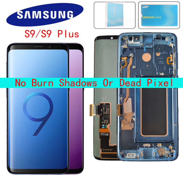 オリジナル amoled 交換 S9 S9Plus lcd ディスプレイタッチスクリーンデジタイザ G960 G965 ディスプレイ