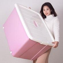 Wozhiwo Экстра большая коробка для хранения толстое одеяло игрушка отделочная коробка Бытовая Одежда Хранение рук пластиковая перчатка отсек