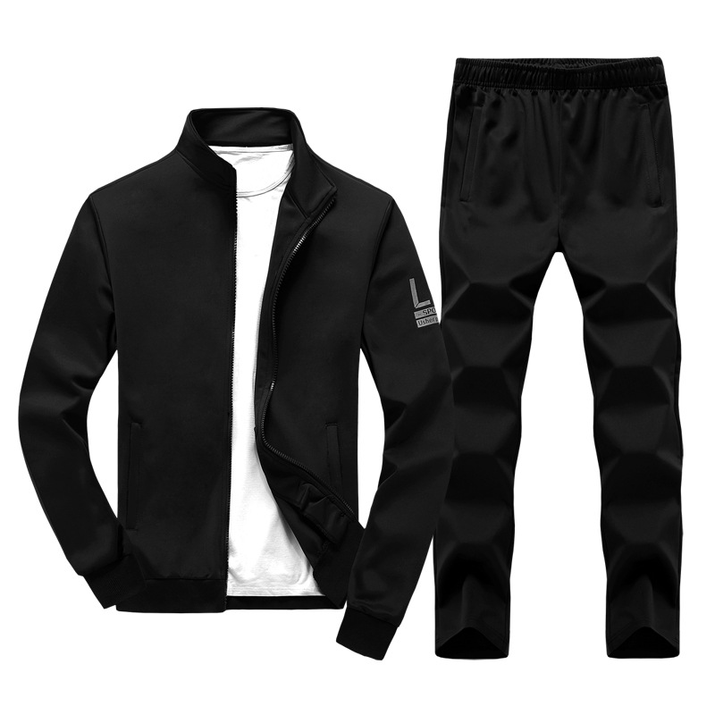For Spring And Autumn New Style Hoodie Leisure Sports Suit Zipper MEN'S Coat Pants Two-Piece Set Men'S Wear