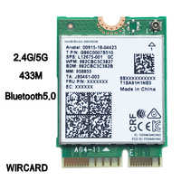 WIRCARD Dual Band Wireless AC 9461 for Intel 9461NGW 802.11ac NGFF Key E 2.4G/5G  WiFi Card Bluetooth 5.0