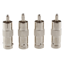 10 BNC Female TO RCA Male Plug COAX Adapter Connector
