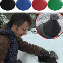 Car-Ice-Scraper-Shaped Cone-Tool Windshield Funnel-Snow-Remover Scraping Car Magic Deicer