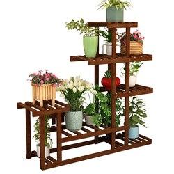 Твердый деревянный домашний стеллаж для хранения для гостиной, мульти мясной зеленый цветочный горшок с ананасом, декоративный стеллаж для...