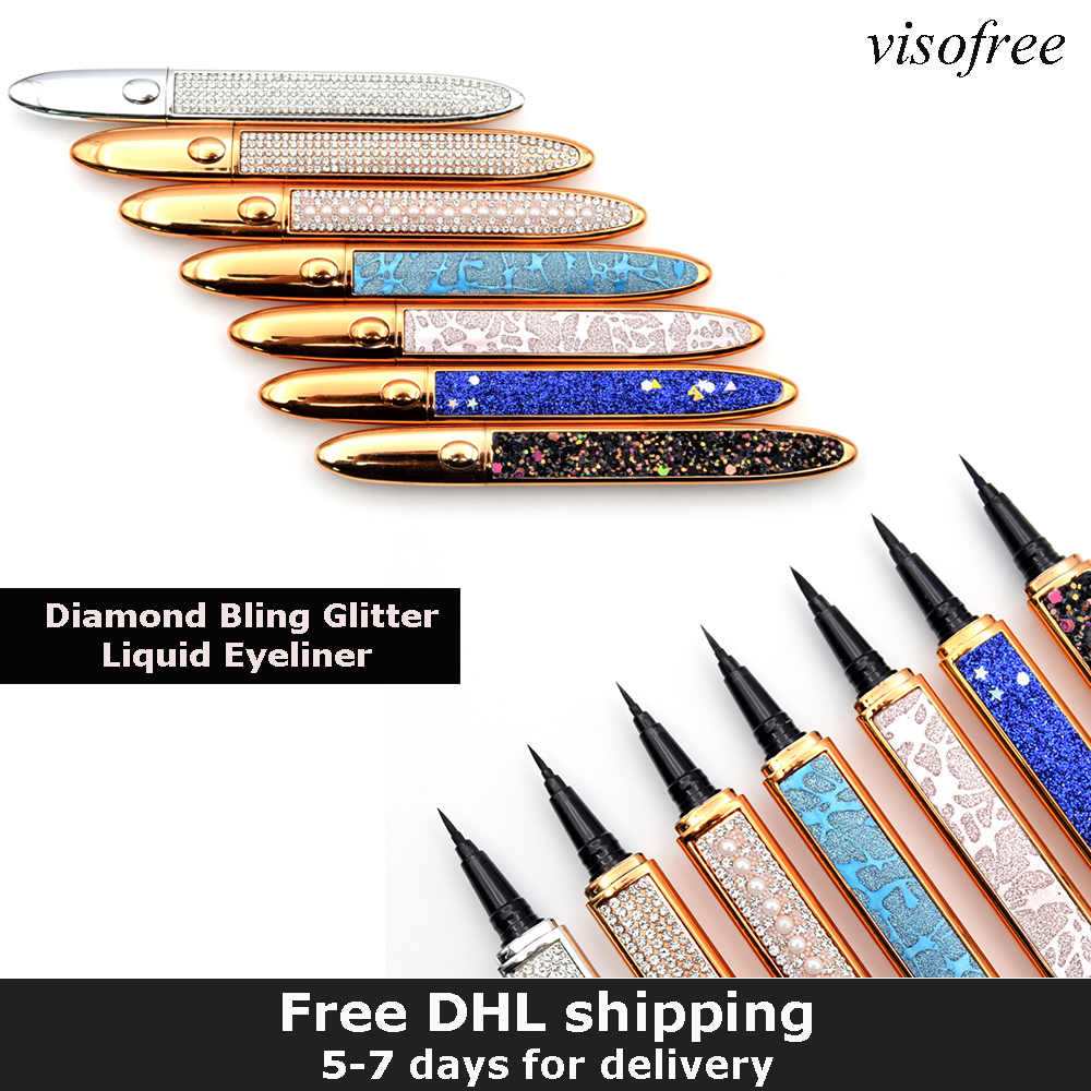 New Magic Self-adhesive Eyeliner Pen Glue-free Magnetic-free for False Eyelashes Waterproof No Blooming Eye Liner Pencil Bulk