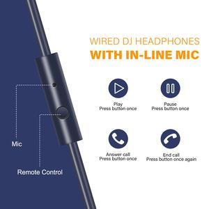 Image 2 - OneOdio orijinal kulaklıklar profesyonel stüdyo dinamik Stereo DJ mikrofonlu kulaklıklar kablolu kulaklık izleme telefon için