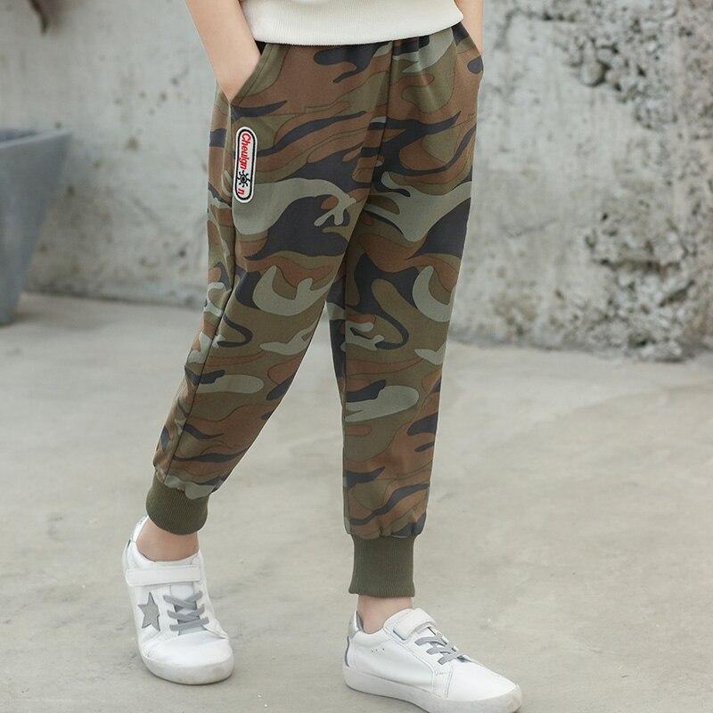 VFOCHI 2020 Boys Pants Spring Summer Thin Camouflage Kids Trousers  4-14T Teenager Boy Clothing Elastic Waist Boy Pencil Pants 5