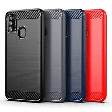 CB dla Samsung Galaxy M20,M21,M31,A01,A01 Core,A11,A21S,A21,A3 2017,A31,A41,A91,J3 2018,J2 Core, j4 plus futerał na telefon z włókna węglowego
