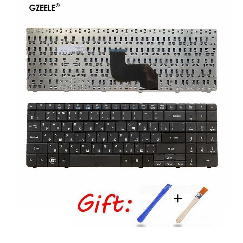 แป้นพิมพ์สำหรับแล็ปท็อปสำหรับ ACER Aspire 5516 5517 5332 5532 5534 5732 5732Z 5732ZG 7713 7715 MP-08G63SU-528 RU เค้าโครงสีดำใหม่