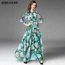 2019 Boho Dress Women Flower Maxi Long Sleeve Maxi Dress Elegant Long Sexy Dresses Woman Party Night Vestiges Vobe Ropa Mujer цена
