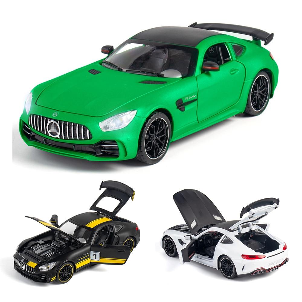 1:24 1:32 BENZ-AMG GTR, juguete de Metal, supercoche de aleación, vehículos de juguete a escala en miniatura, coche de juguete para niños Pegatina 3D para coche, Araña, lagarto, escorpión, estilo animal, pegatina para Infiniti fx-series qx-series Coupe EX37 EX25 JX35 EX35
