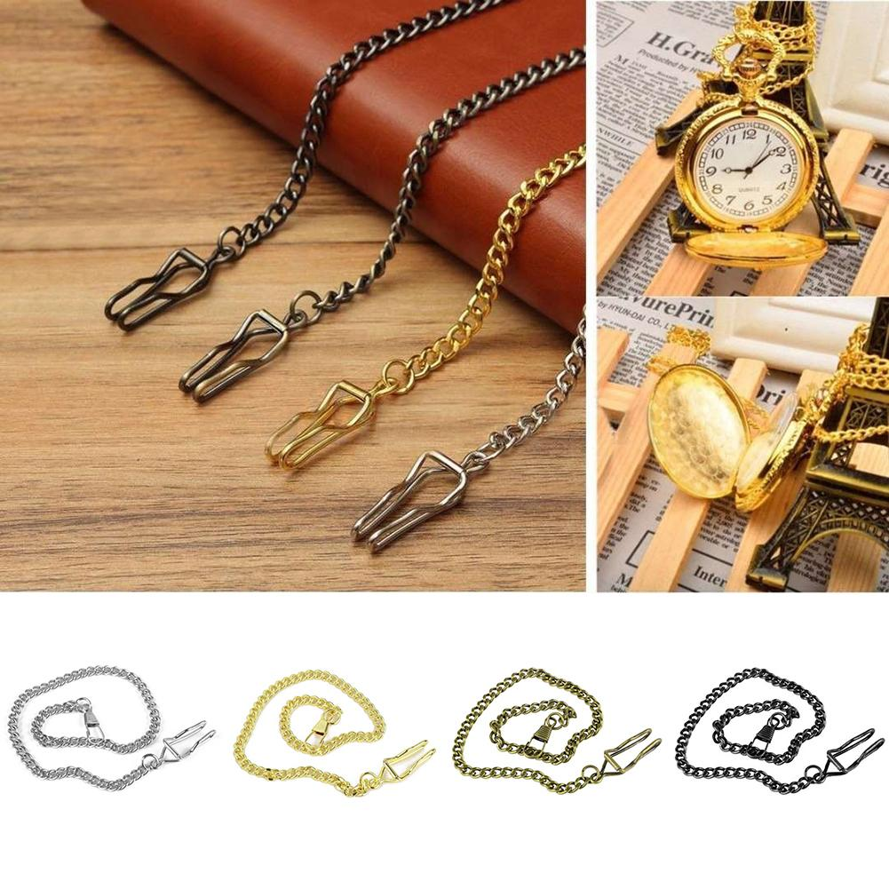 37cm Retro Pocket Chain Watch Chain Bracelet Necklace Belt Decor Pocket Watch Chain Necklace Chain For Men/Women Antique Gifts