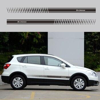 2PCS Car Door Sticker FOR Suzuki Sx4 Scross Car Decal Vinyl Graphics Side Stickers Body Decals Sticker Waterproof