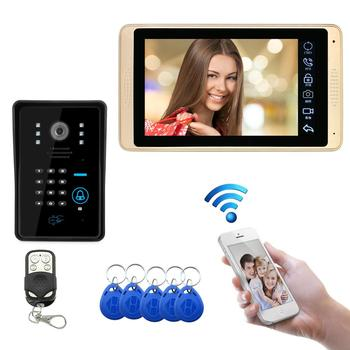 smartyiba 7 inch color display work for video intercom speakerphone system lcd tft hand free indoor monitor unit support unlock 7 inch Wireless/Wired Video Door Phone Monitor Support Connect To Home WIFI Intercom Entry System HD Camera Remote Unlock