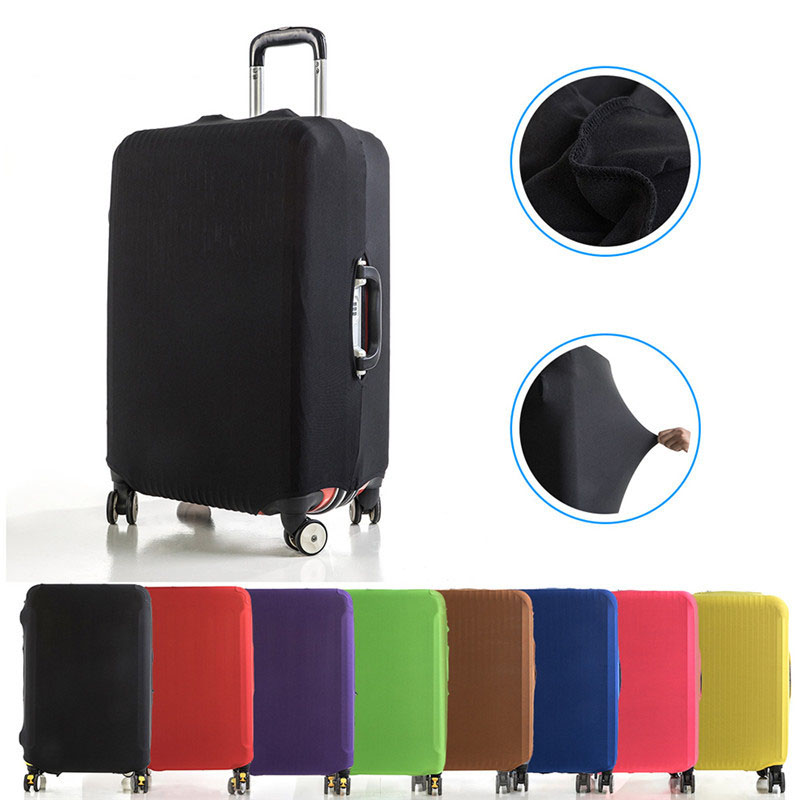 VOGVIGO Luggage Protective Covers Elastic Fabric Solid Color Travel Suitcase Dust Cover For 18-28 Inch Cases Travel Accessories