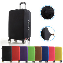 цены VOGVIGO Luggage Protective Covers Elastic Fabric Solid Color Travel Suitcase Dust Cover For 18-28 inch Cases Travel Accessories