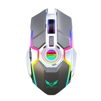 Mechanical Wireless 2.4G 7 Button 2400DPI Mouse USB Receiver RGB streaming effect FOR game and office