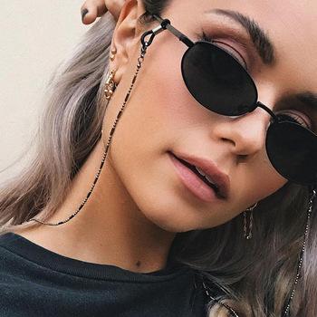 Nowa smycz do okularów koralik łańcuszek do okularów modne okulary pasek okulary przeciwsłoneczne sznury dorywczo akcesoria do okularów okulary Chic damskie tanie i dobre opinie CN (pochodzenie) WOMEN Metal Łańcuchy i smycze Okulary akcesoria 70CM XYJL01 Ze stopu cynku Stałe