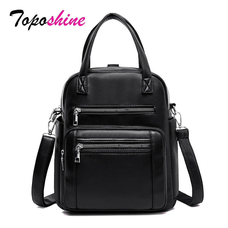 Toposhine More Pockets Women Backpack Lady Functional Travel Shoulder Bags Soft School Bags Fashion Backpack Oxford Fabric Bags