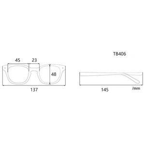 Image 2 - יפן עגול רטרו אצטט משקפיים מסגרת משקפיים TB406 שחור מעצב סגנון