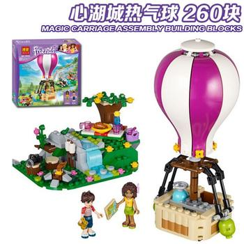 Bela 10546 Friends Series Heartlake Hot Air Balloon Andrea and Noah Building Blocks 260pcs Bricks Toy Compatible Friends 41097 фото