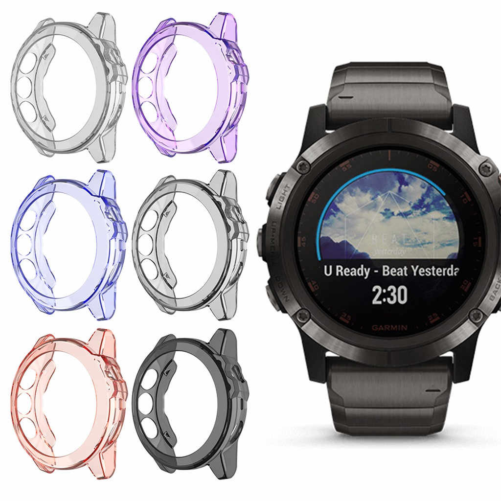 Soft Ultra Slim Crystal Clear กรณี TPU Protector สำหรับ Garmin Fenix 5/5 PLUS