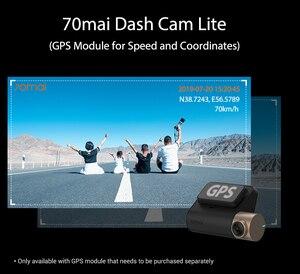 Image 4 - 70mai Cámara de salpicadero DVR para coche, grabadora de vídeo para automóvil, control de estacionamiento 24H, 1080P, velocidad coordinada, GPS, 70 MAI Lite