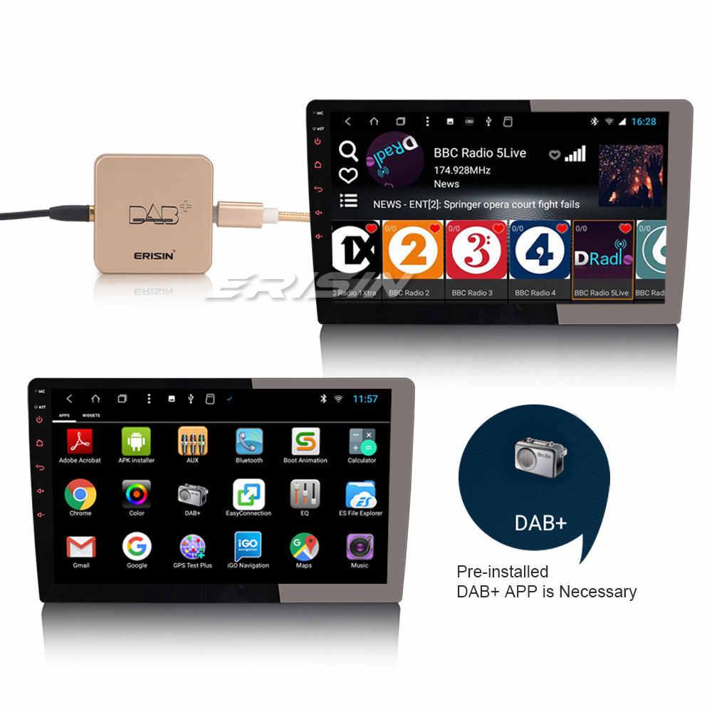 Erisin ES364 DAB + Digital Mobil Radio Aerial Antena Penguat untuk Android 7.1/8.1/9.0/10.0 Mobil radio DVD