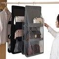 Складная подвесная сумка, органайзер для одежды, органайзер для вещей, шкаф, прозрачная сумка для хранения, сумочка, сумка для покупок, разны...