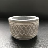 Moule en Silicone de Pot de fleur de ciment fait main de conception réticulaire pour les outils créatifs de décoration de jardinage moules de Pot en béton