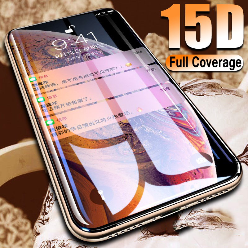Protective-Glass Tempered-Screen-Protector Full-Cover IPhone X 8-Plus For XS Max-Xr The