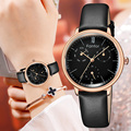 Fantor Vrouwen Horloge Luxe Merk Chronograaf Echt Lederen Horloges Vrouw Waterdicht relogio feminino polshorloge voor Vrouwen