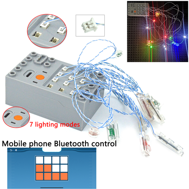 Lamp Pin port compatible with Building Block moc City Street DIY remote control 2