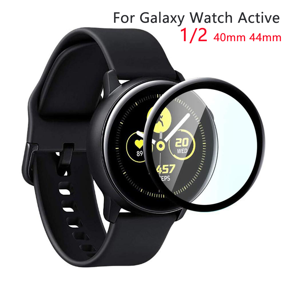 For Samsung Galaxy Watch Active 2 44mm 40mm Sport 3D HD Full Screen Protector Film Active 2 Watch Accessories Galaxy Watch Glass