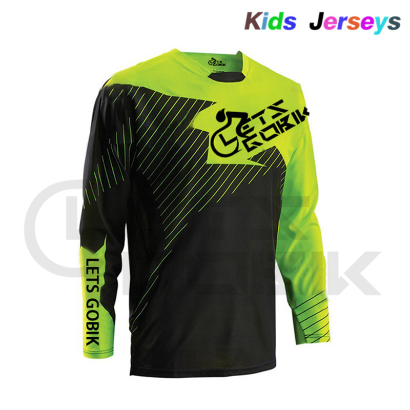 2019 Kids T-Shirt Long Sleeve Cycling Jersey Downhill Jersey Bicycle Mountain Bike Clothing Quick Dry Breathable Quick Drying