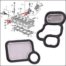Wooeight прокладка электромагнитного клапана VTEC шпуля клапан VTC фильтр-экран уплотнение 15815-RAA-A02 15845-RAA-A01 Подходит для Honda Civic Accord Integra
